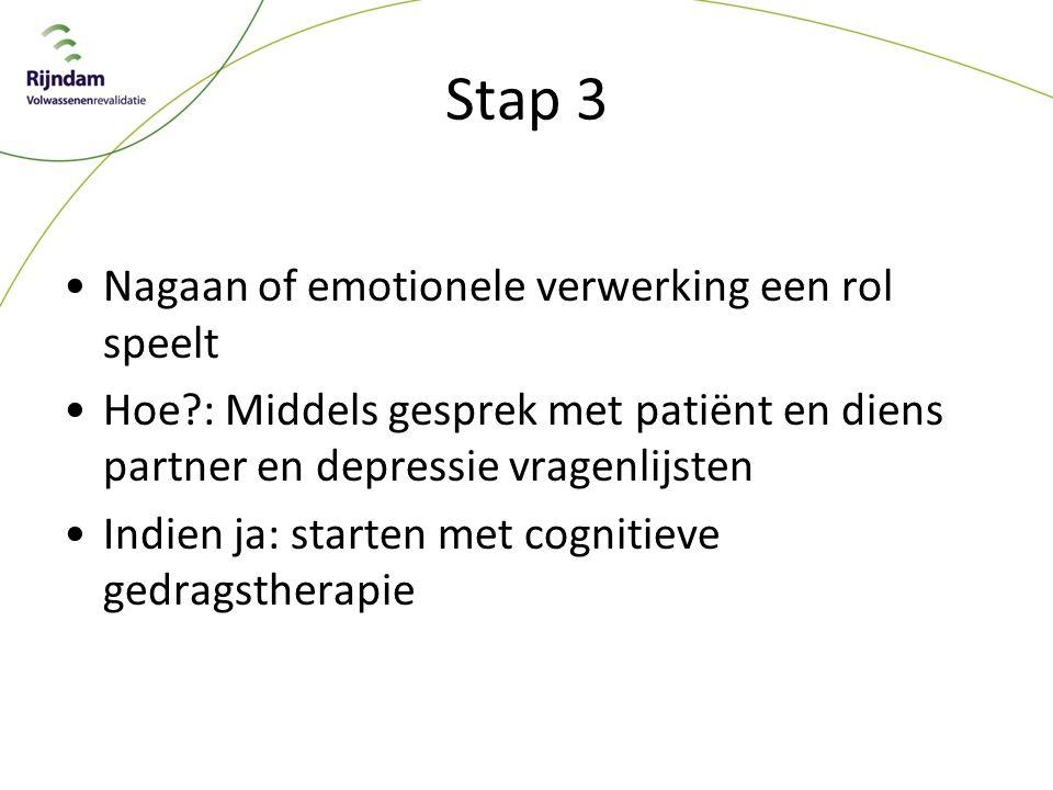 Stap 3 Nagaan of emotionele verwerking een rol speelt
