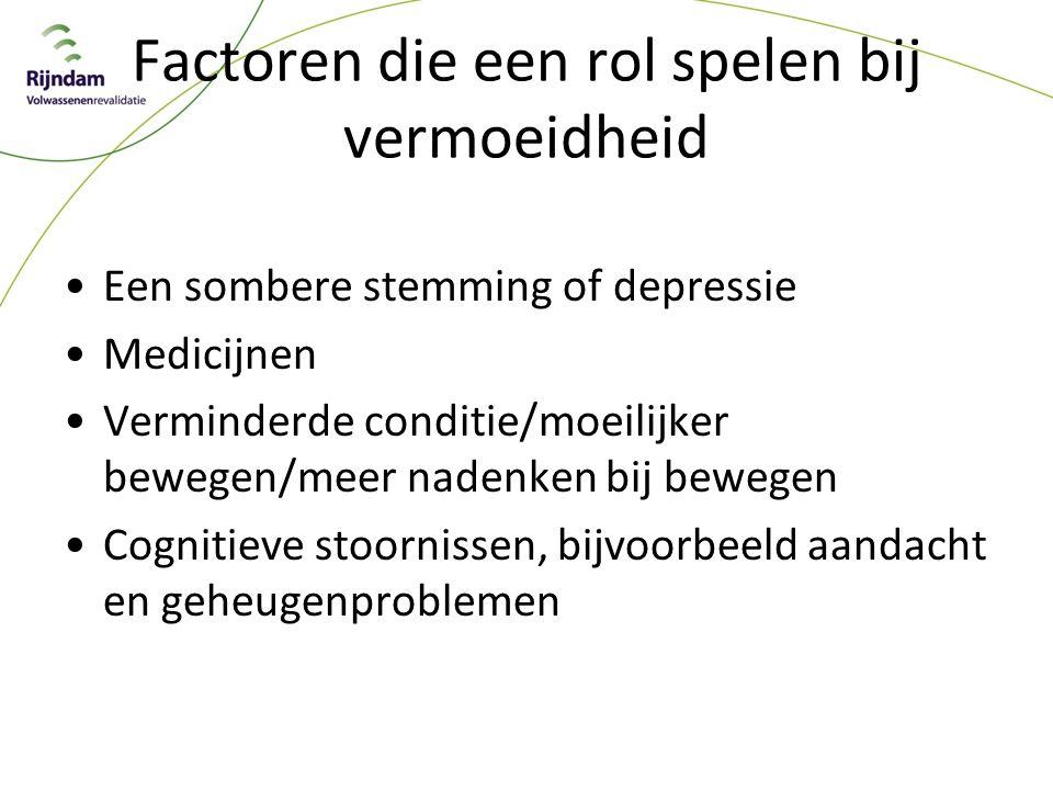 Factoren die een rol spelen bij vermoeidheid