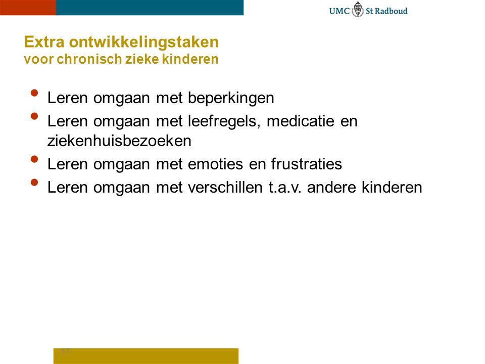 Extra ontwikkelingstaken voor chronisch zieke kinderen