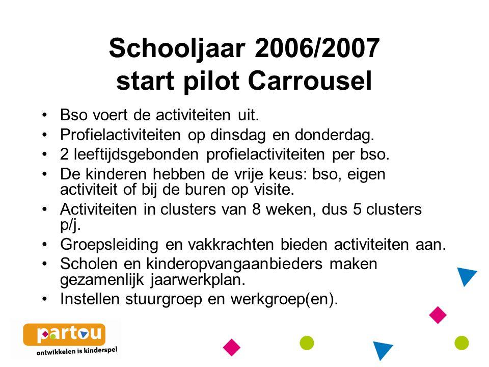 Schooljaar 2006/2007 start pilot Carrousel