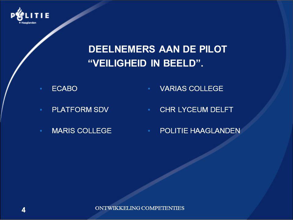 DEELNEMERS AAN DE PILOT VEILIGHEID IN BEELD .