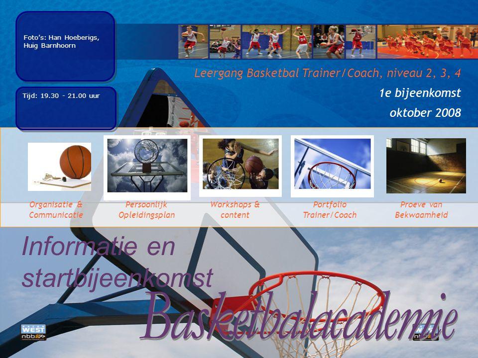 Basketbalacademie Informatie en startbijeenkomst