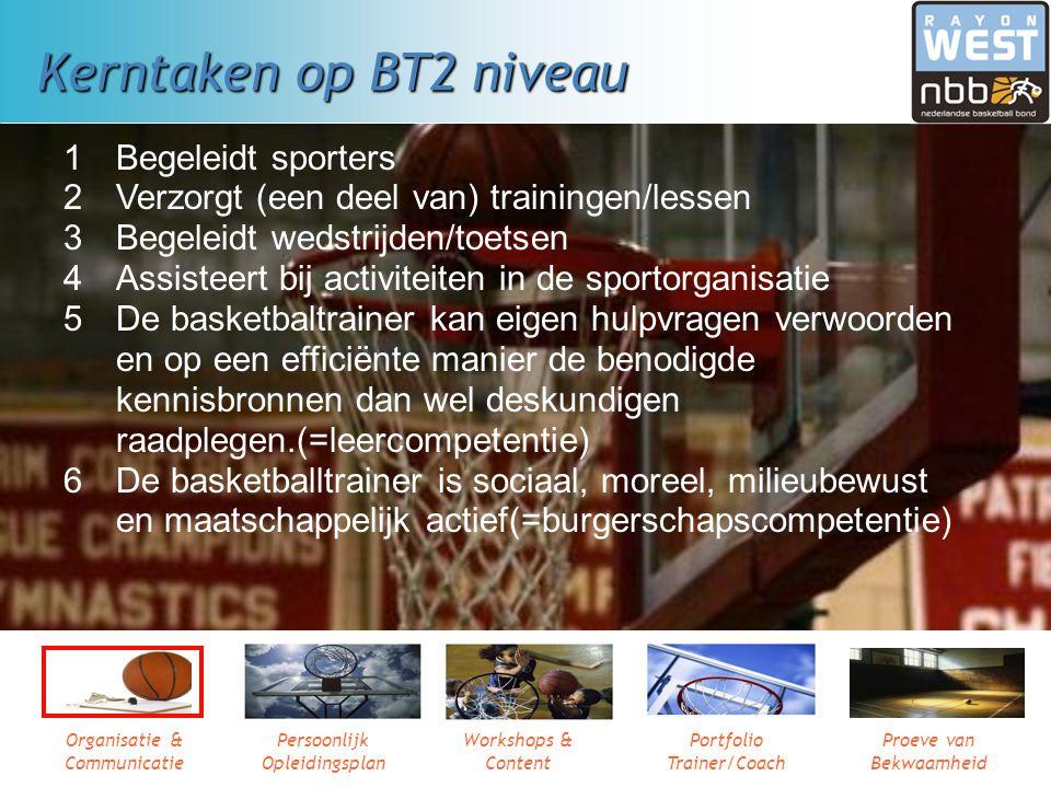 Kerntaken op BT2 niveau 1 Begeleidt sporters