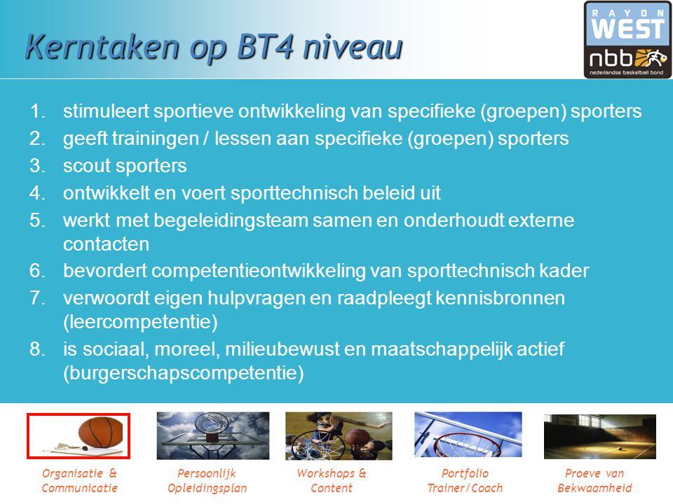 Kerntaken op BT4 niveau stimuleert sportieve ontwikkeling van specifieke (groepen) sporters.