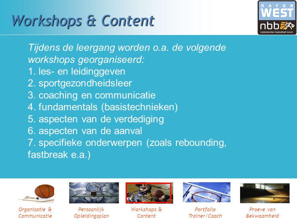 Workshops & Content Tijdens de leergang worden o.a. de volgende workshops georganiseerd: 1. les- en leidinggeven.