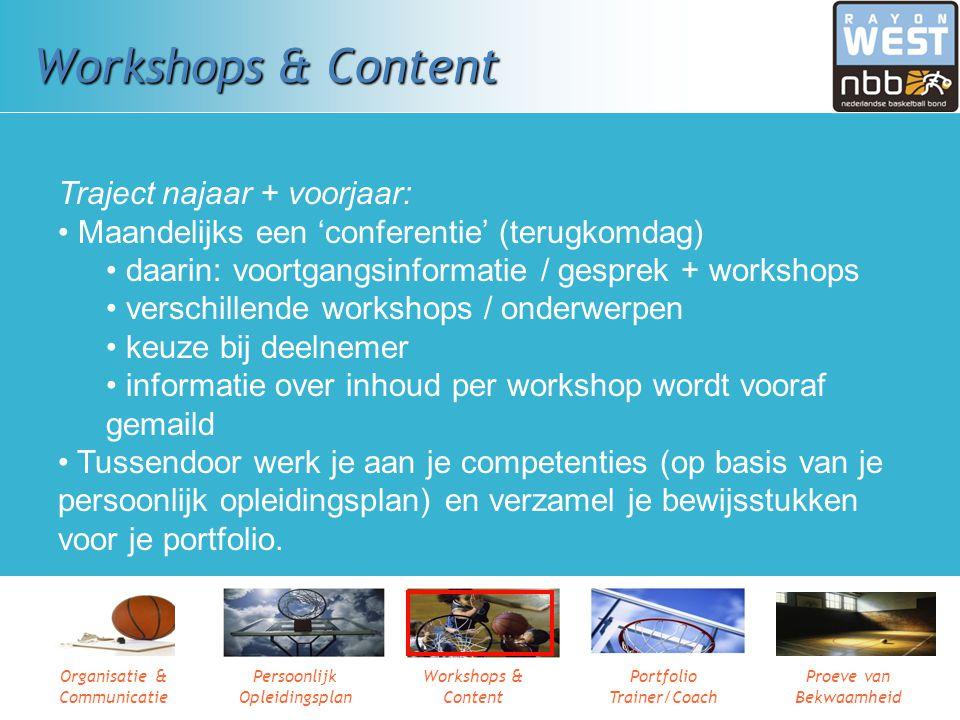 Workshops & Content Traject najaar + voorjaar: