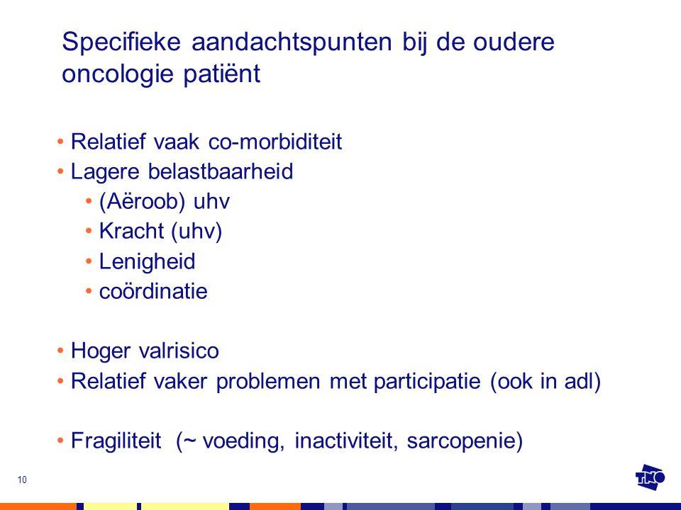 Specifieke aandachtspunten bij de oudere oncologie patiënt