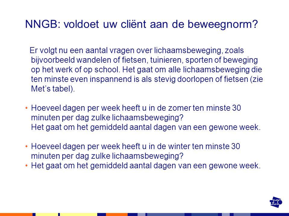 NNGB: voldoet uw cliënt aan de beweegnorm