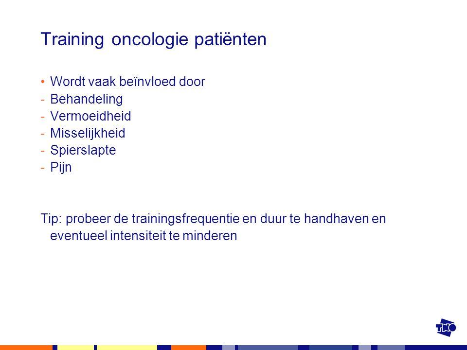 Training oncologie patiënten