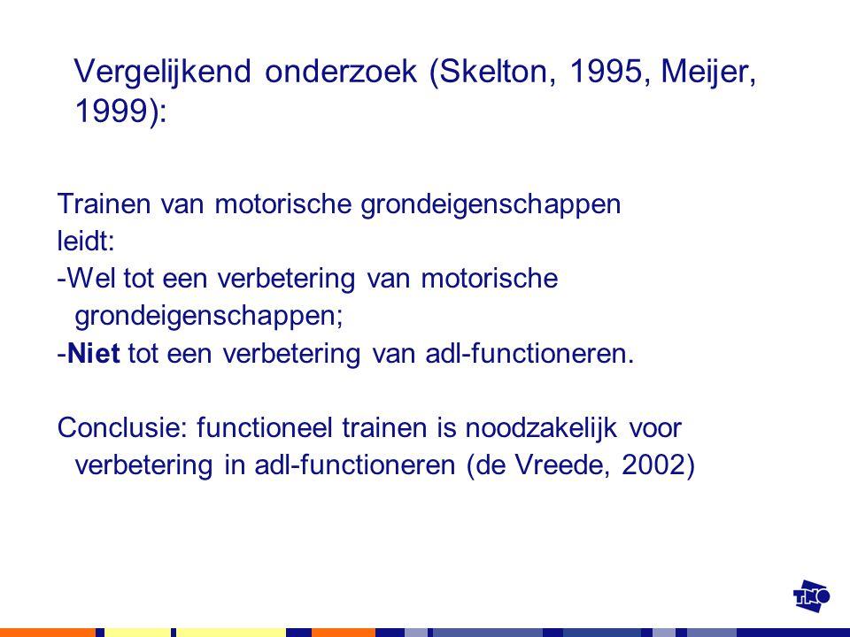 Vergelijkend onderzoek (Skelton, 1995, Meijer, 1999):