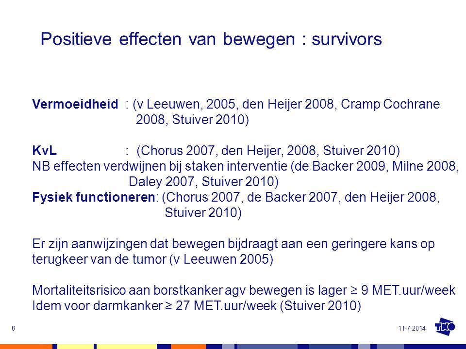 Positieve effecten van bewegen : survivors