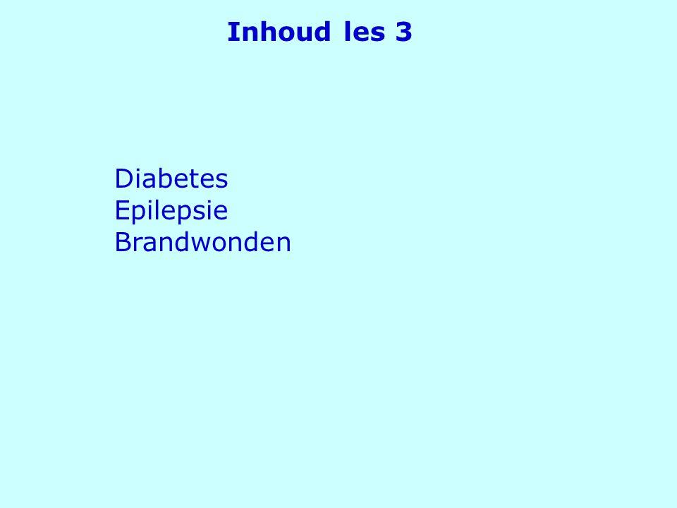 Inhoud les 3 Diabetes Epilepsie Brandwonden EHBO les 3 - Sonja Gerber