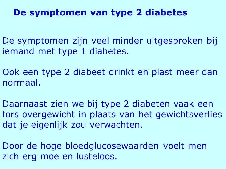 De symptomen van type 2 diabetes