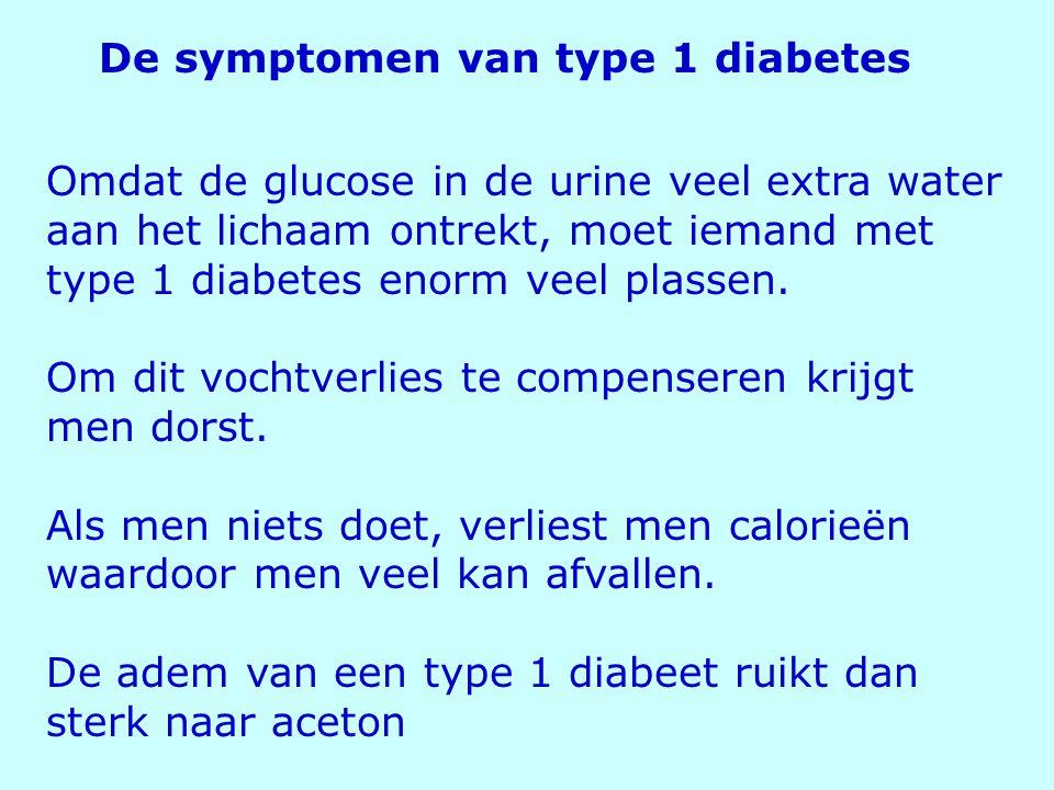De symptomen van type 1 diabetes