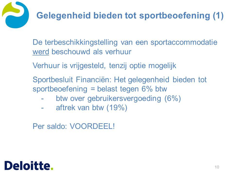 Gelegenheid bieden tot sportbeoefening (1)