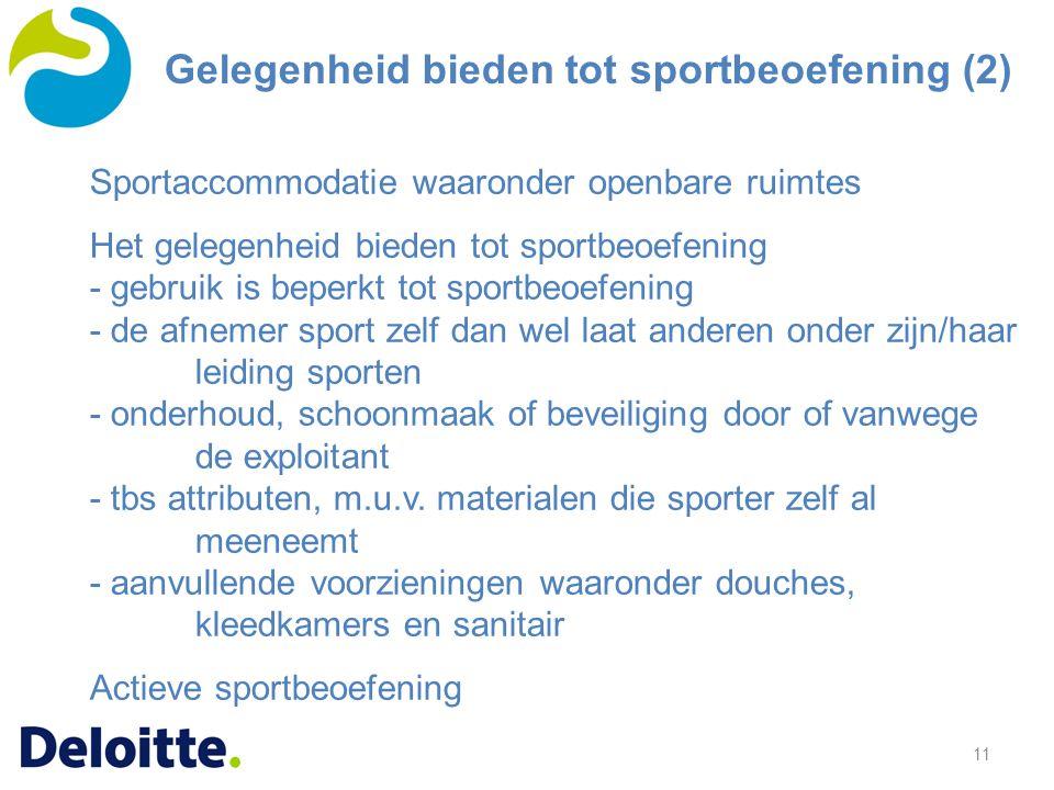 Gelegenheid bieden tot sportbeoefening (2)