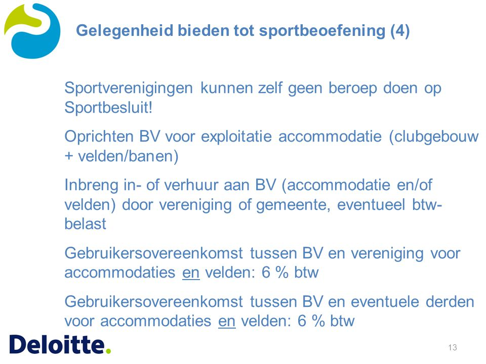 Sport en btw in de gemeente capelle aan den ijssel 15 for Helmers accommodatie en interieur bv