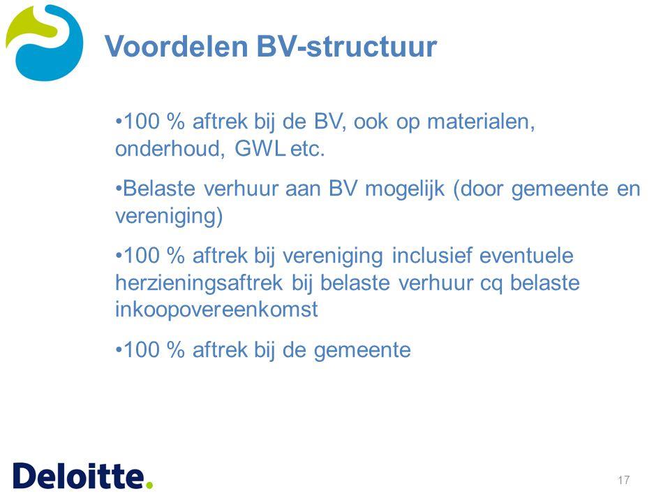 Voordelen BV-structuur