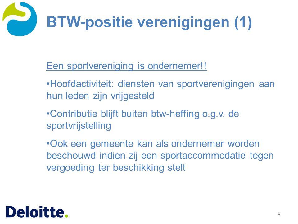 BTW-positie verenigingen (1)