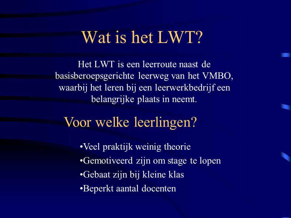 Wat is het LWT Voor welke leerlingen