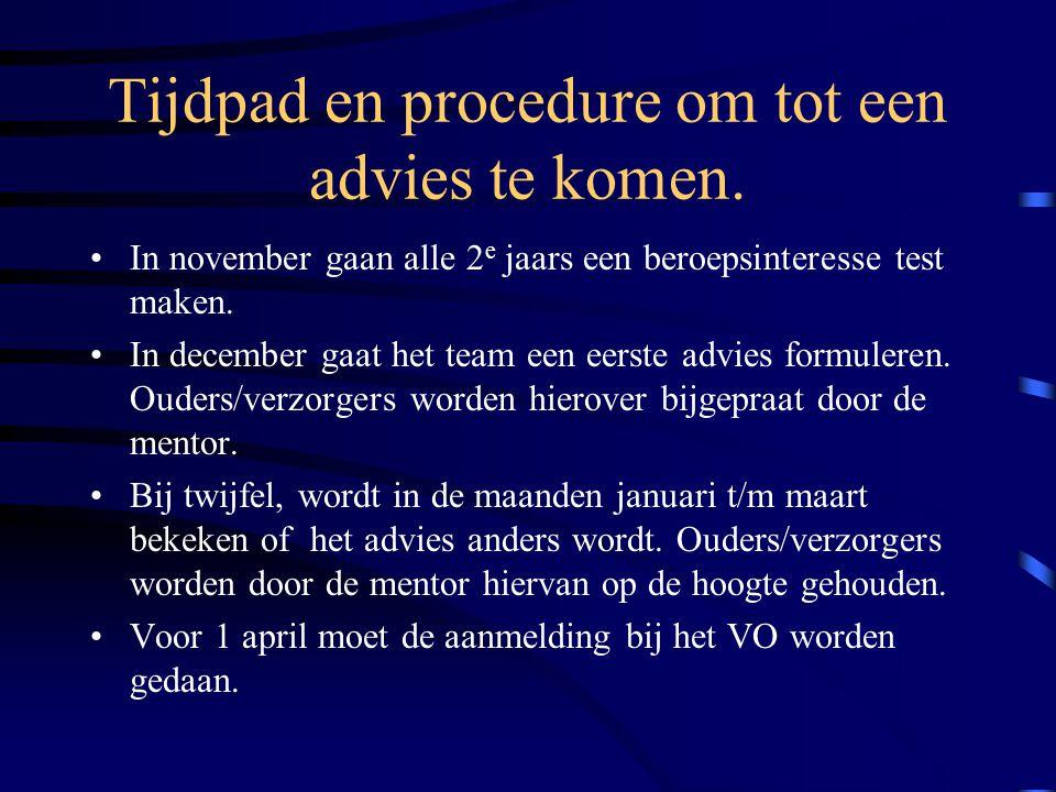 Tijdpad en procedure om tot een advies te komen.
