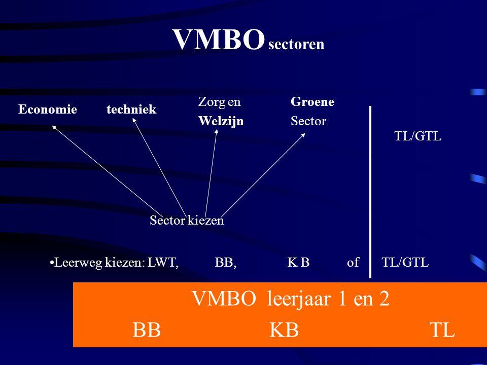VMBO leerjaar 1 en 2 BB KB TL