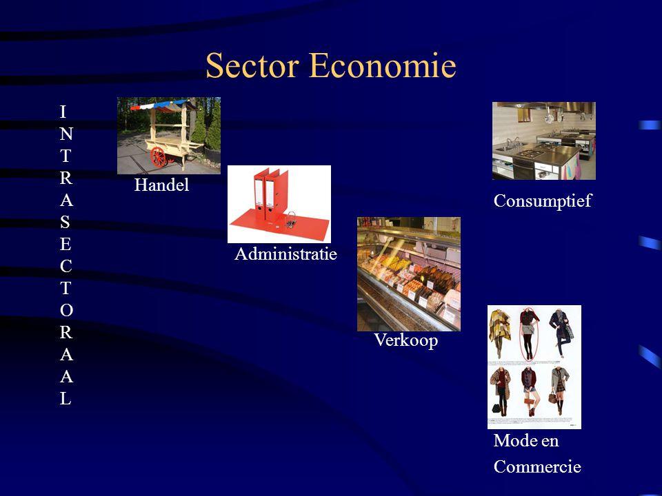 Sector Economie I N T R A S E C T O R A A L Handel Consumptief