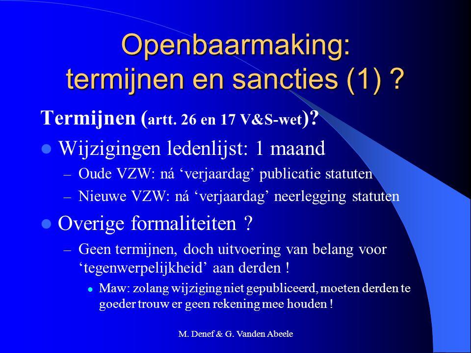 Openbaarmaking: termijnen en sancties (1)
