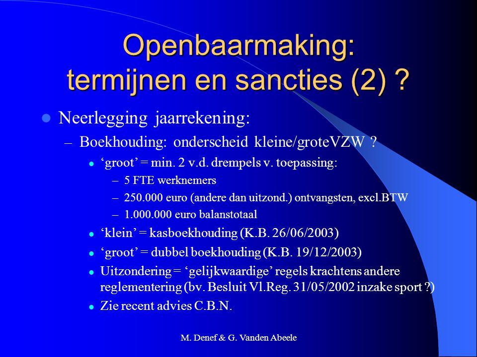 Openbaarmaking: termijnen en sancties (2)