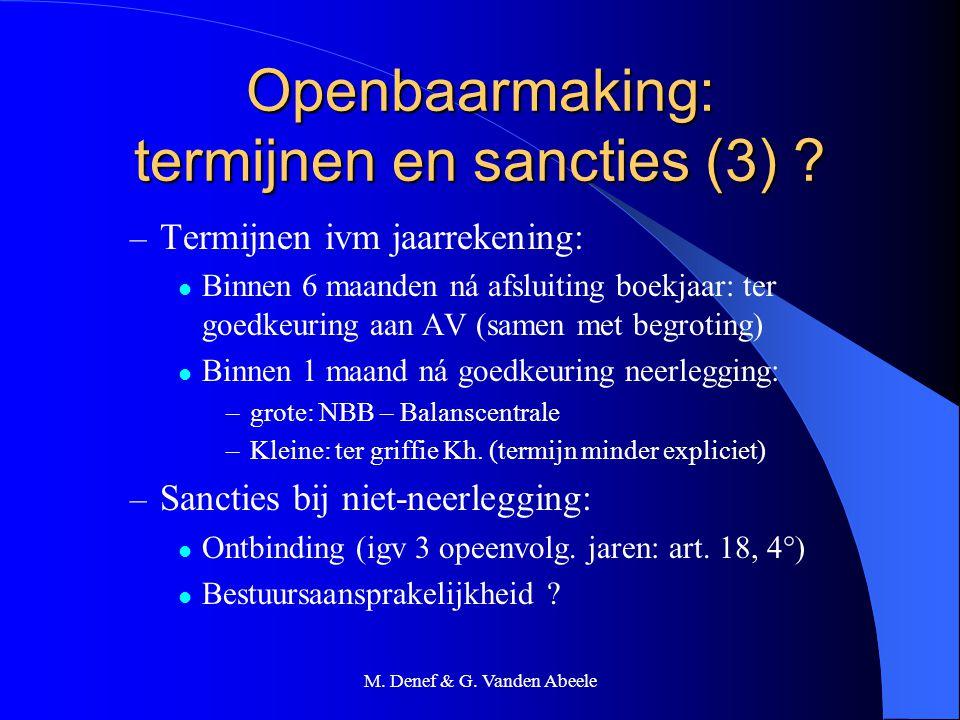 Openbaarmaking: termijnen en sancties (3)