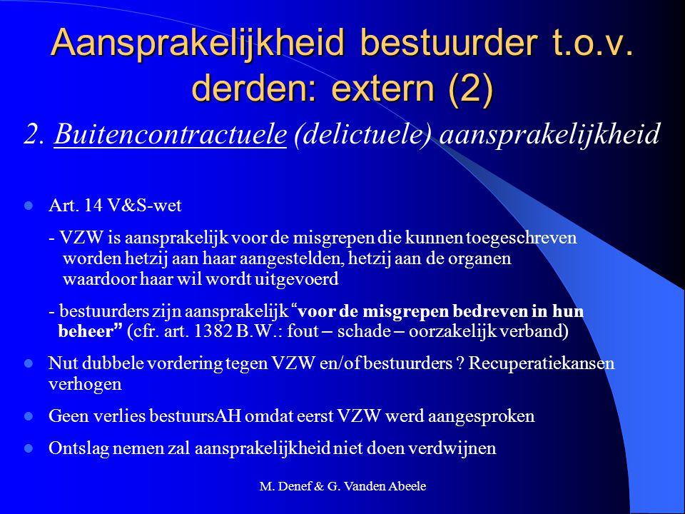 Aansprakelijkheid bestuurder t.o.v. derden: extern (2)
