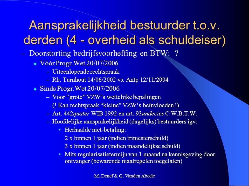 M. Denef & G. Vanden Abeele