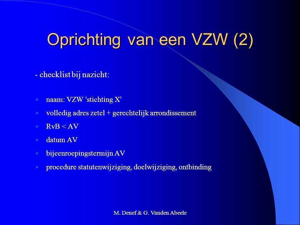 Oprichting van een VZW (2)