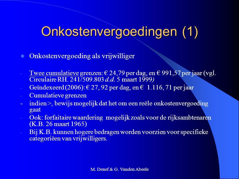 Onkostenvergoedingen (1)