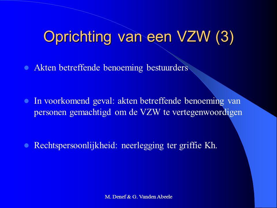 Oprichting van een VZW (3)