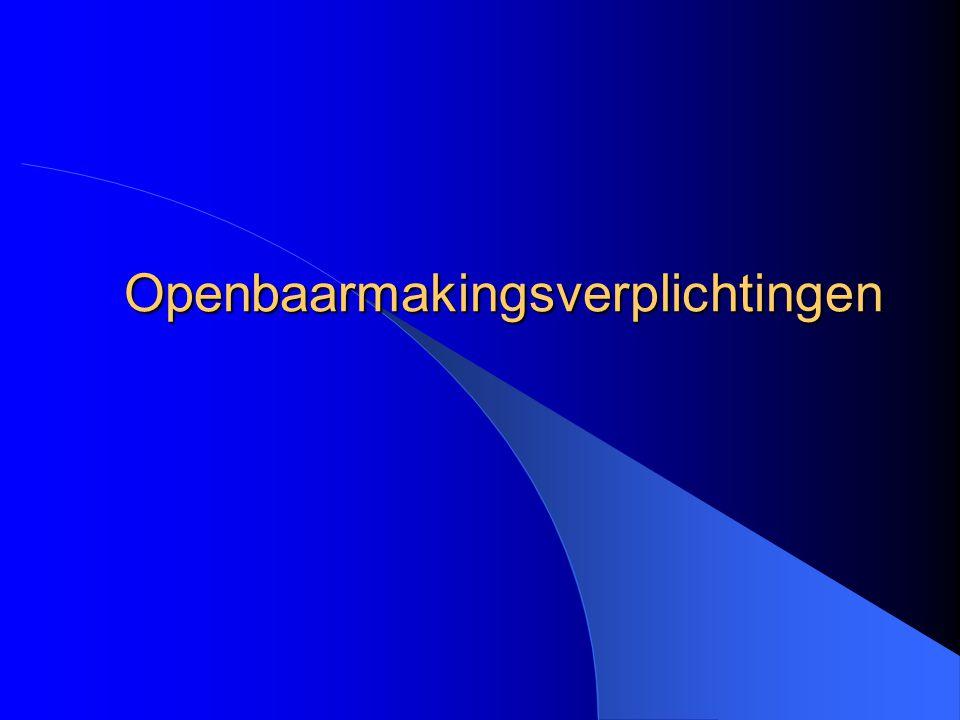 Openbaarmakingsverplichtingen