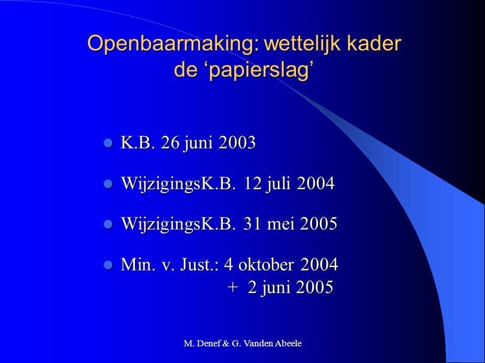 Openbaarmaking: wettelijk kader de 'papierslag'