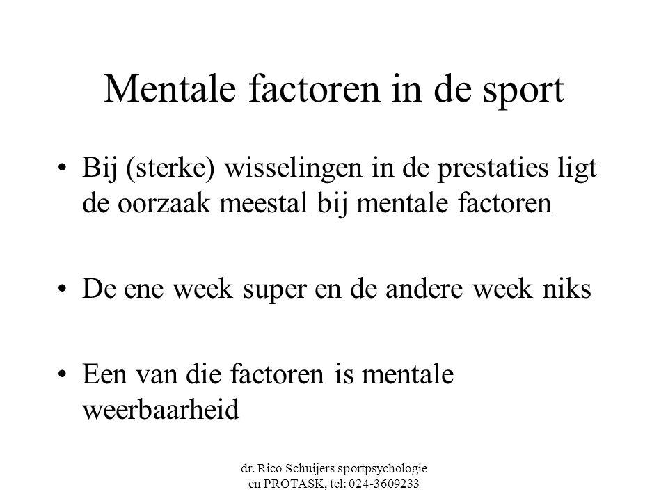 Mentale factoren in de sport