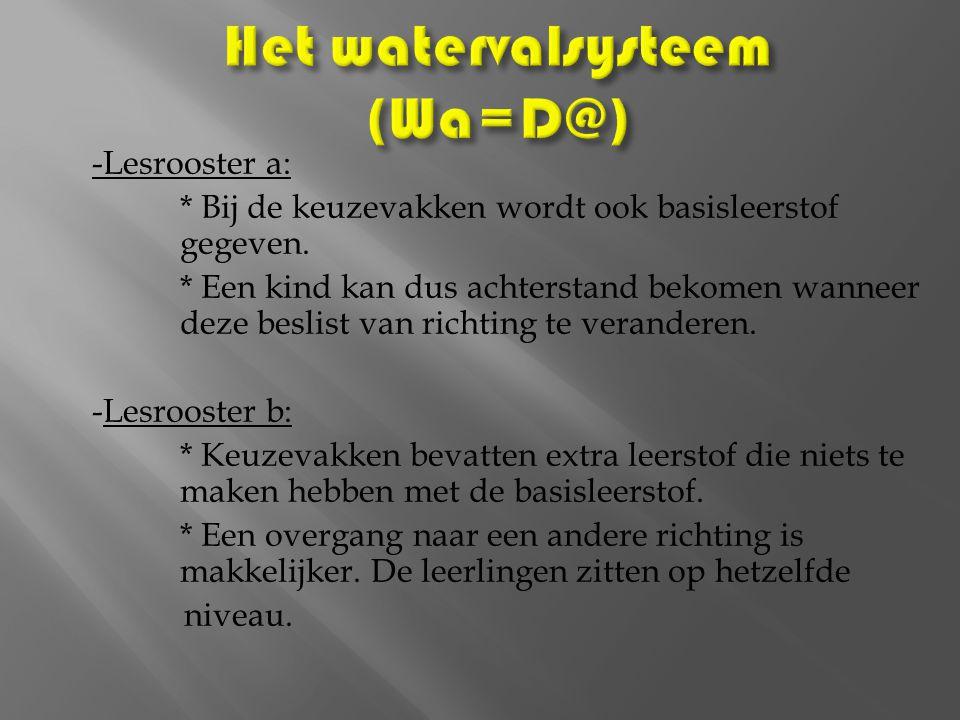 Het watervalsysteem (Wa=D@)