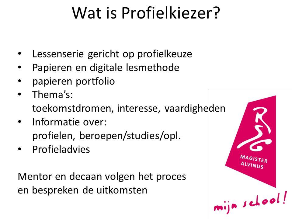 Wat is Profielkiezer Lessenserie gericht op profielkeuze