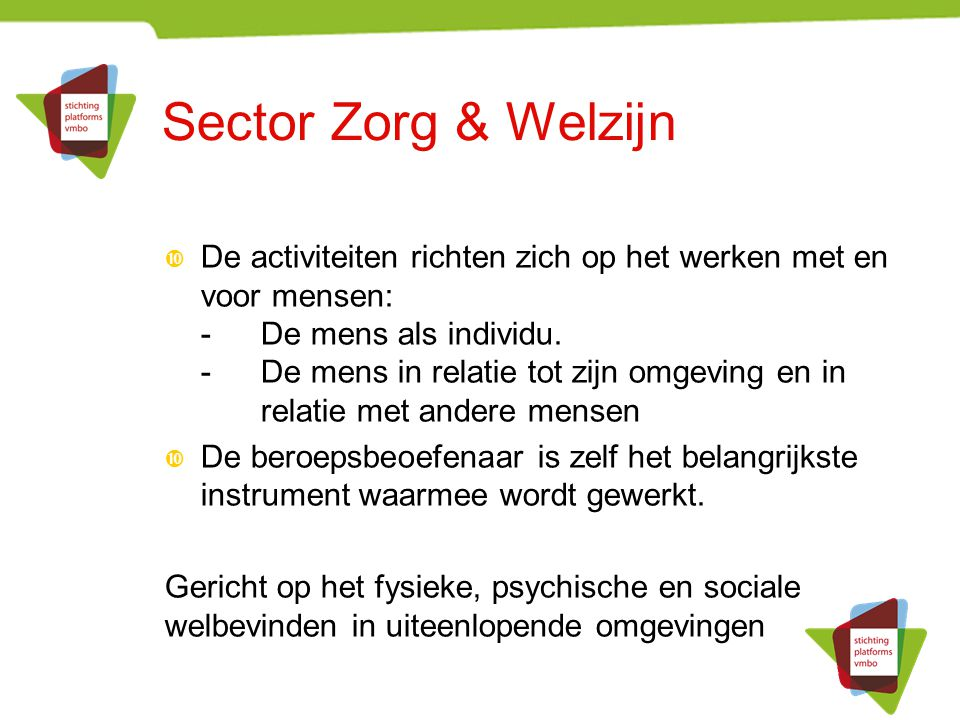 Sector Zorg & Welzijn