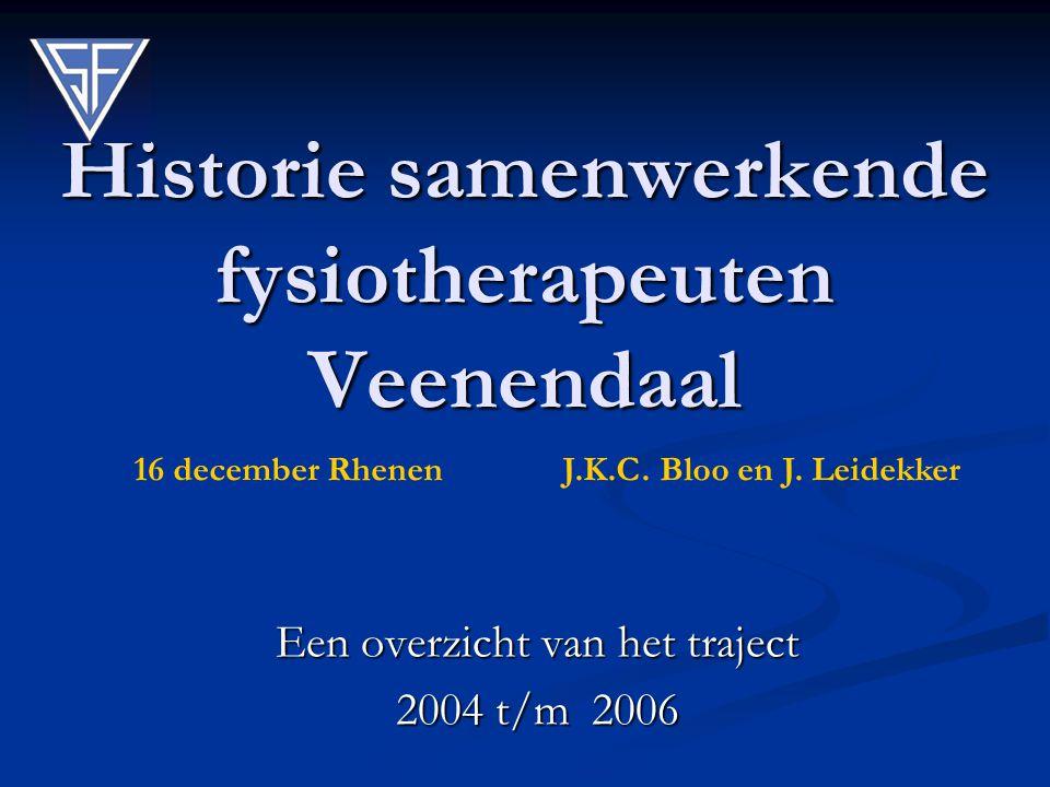 Historie samenwerkende fysiotherapeuten Veenendaal