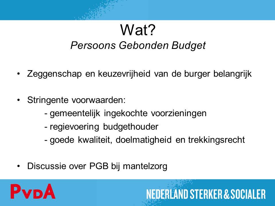Wat Persoons Gebonden Budget