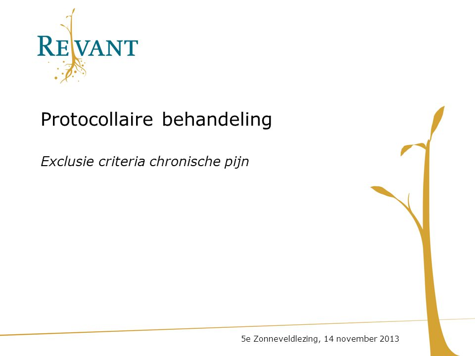 Protocollaire behandeling