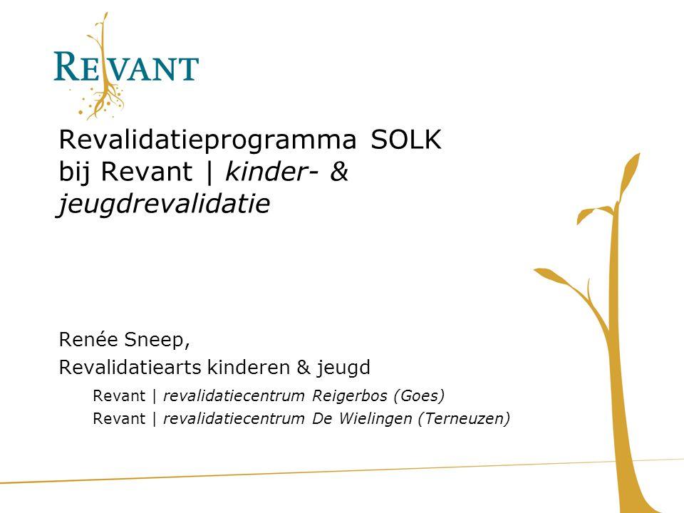 Revalidatieprogramma SOLK bij Revant | kinder- & jeugdrevalidatie