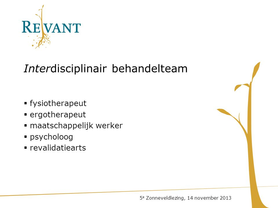 Interdisciplinair behandelteam