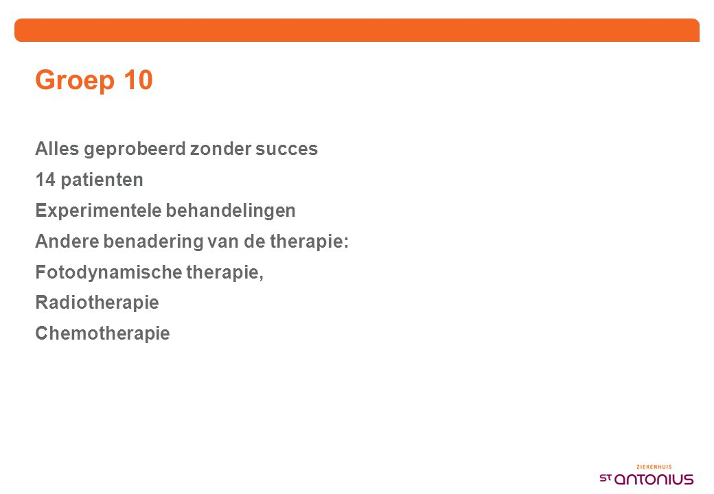 2009: meer dan 570 patienten onder behandeling