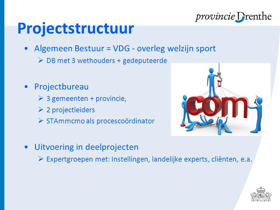 Projectstructuur Algemeen Bestuur = VDG - overleg welzijn sport