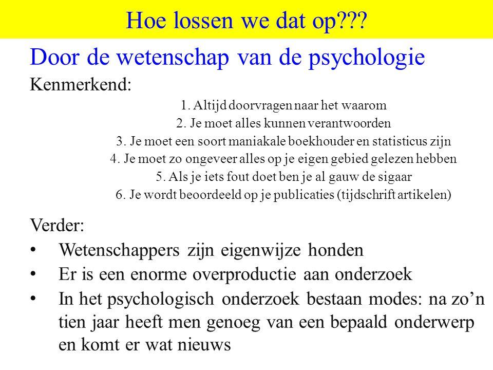 Door de wetenschap van de psychologie