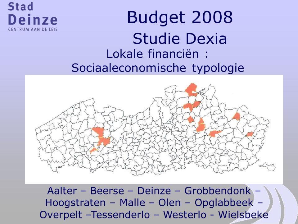 Lokale financiën : Sociaaleconomische typologie